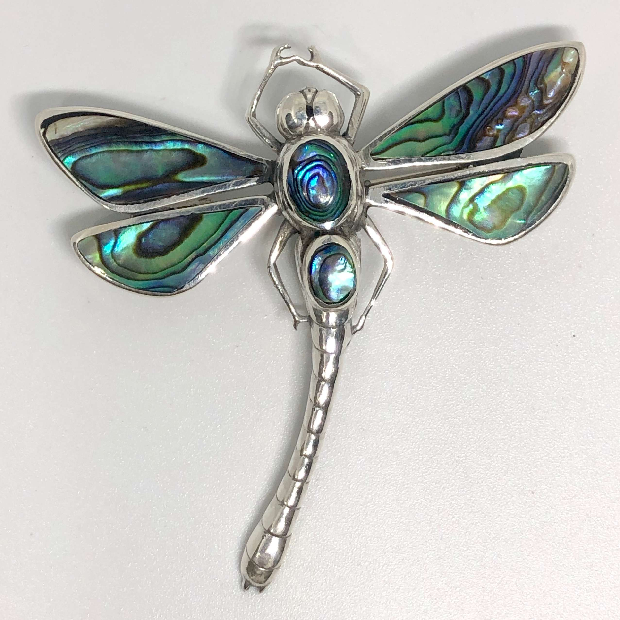 Sweet Dragonfly 925 Bali Silver Pendant